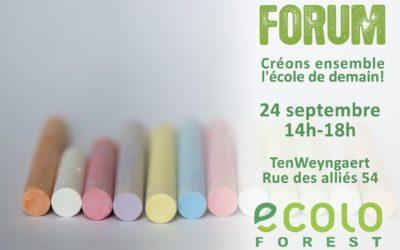 Forum Ouvert – Créons ensemble l'école de demain